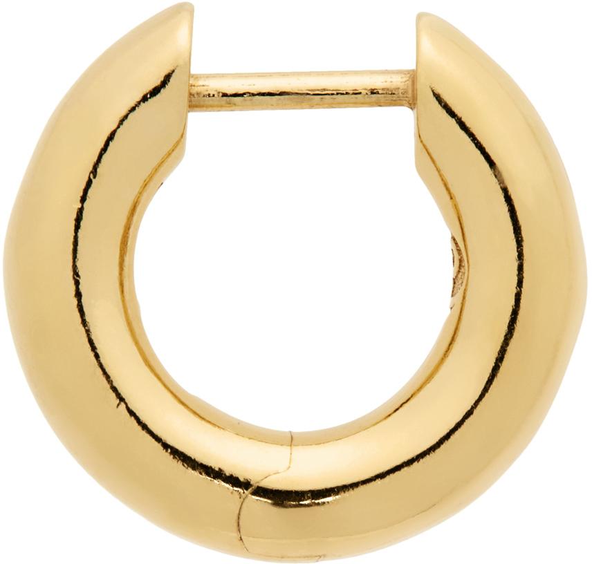 Gold Almost Hoop Single Earring