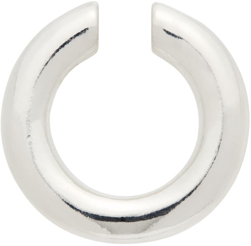 Silver Polished Almost Single Ear Cuff