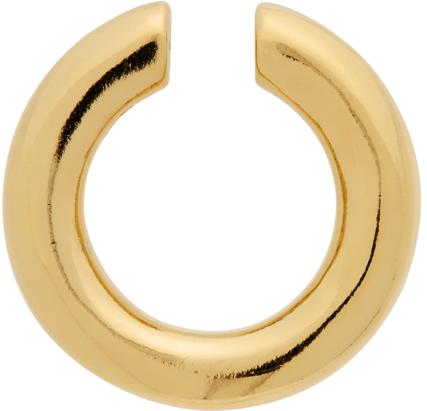 Gold Polished Almost Single Ear Cuff