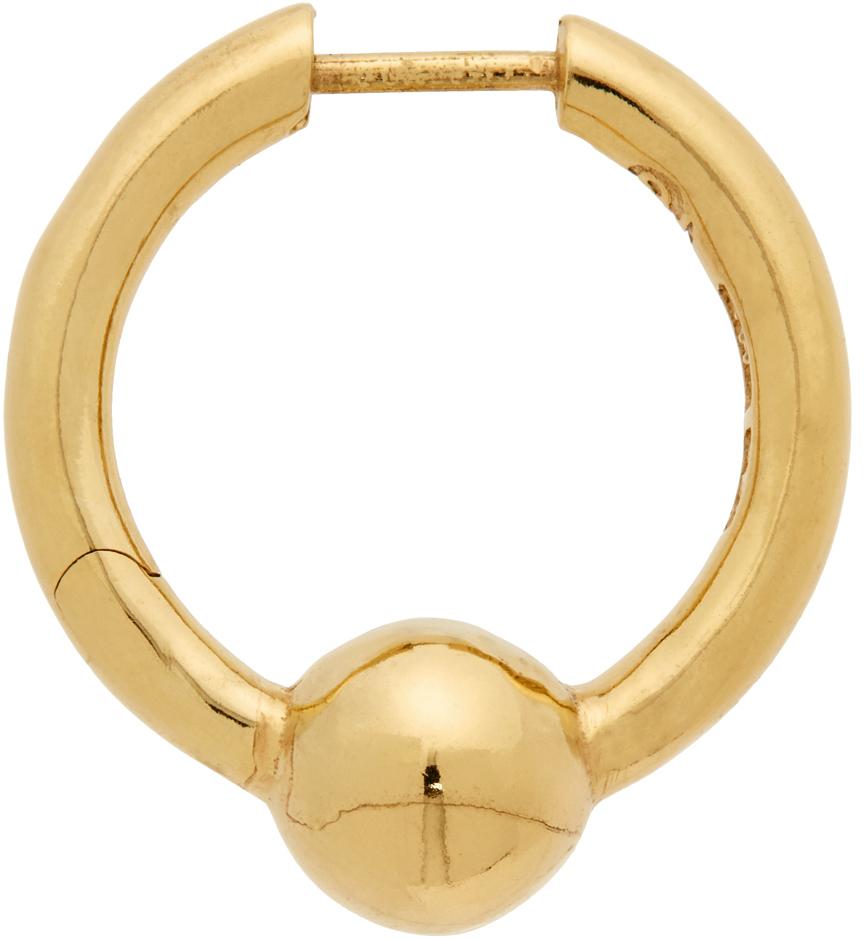 Gold Pearl Single Earring