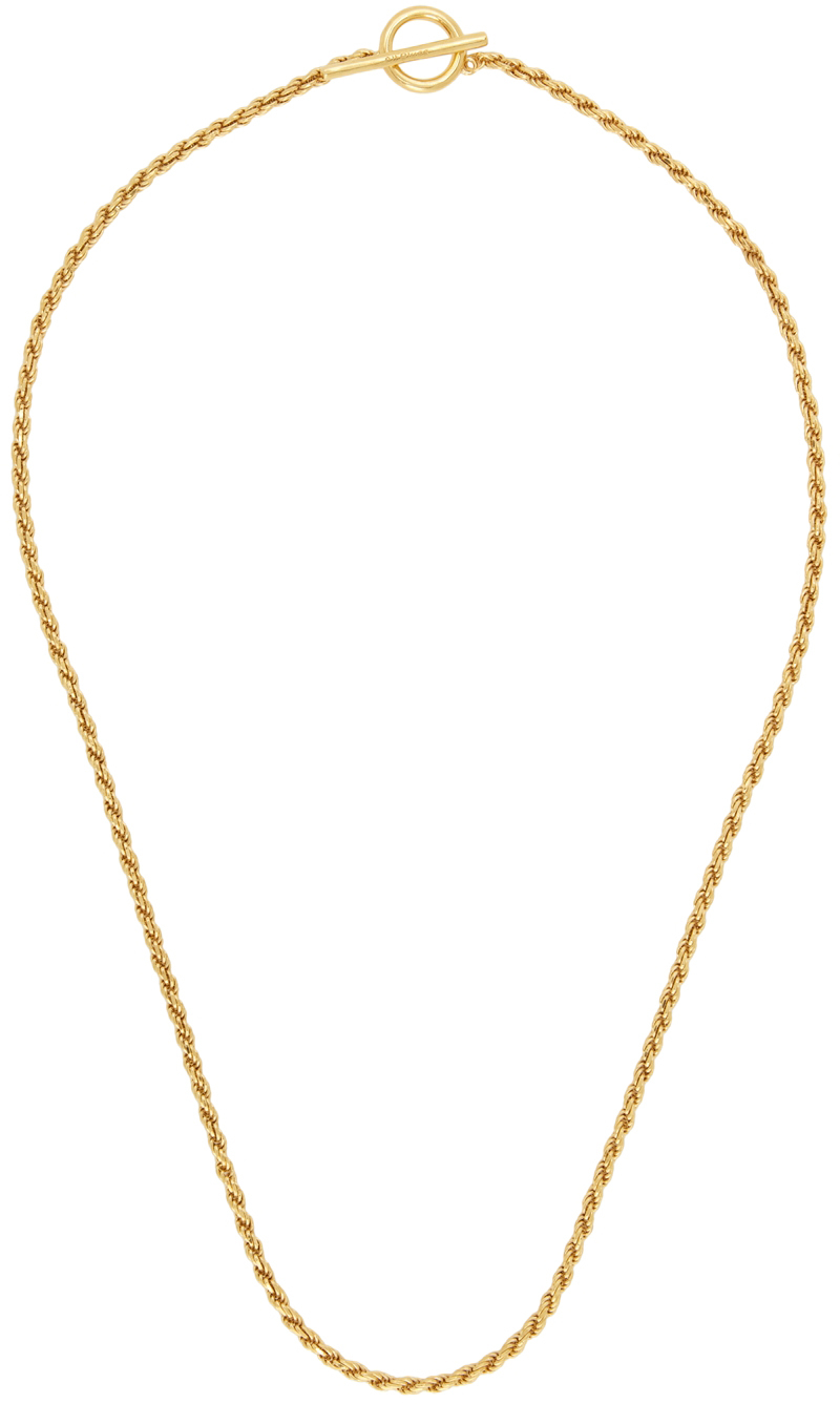 Gold Polished Rope Necklace