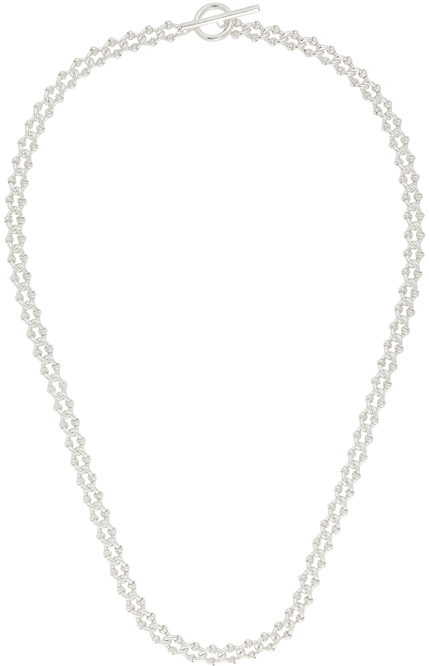 Silver Polished DNA Necklace