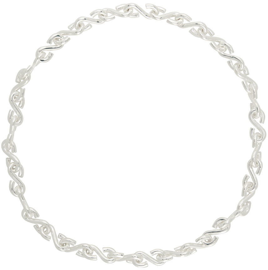 Silver Polished S Necklace