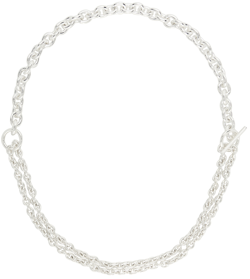 Silver Double Necklace