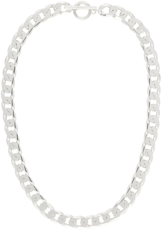 Silver Moto Necklace