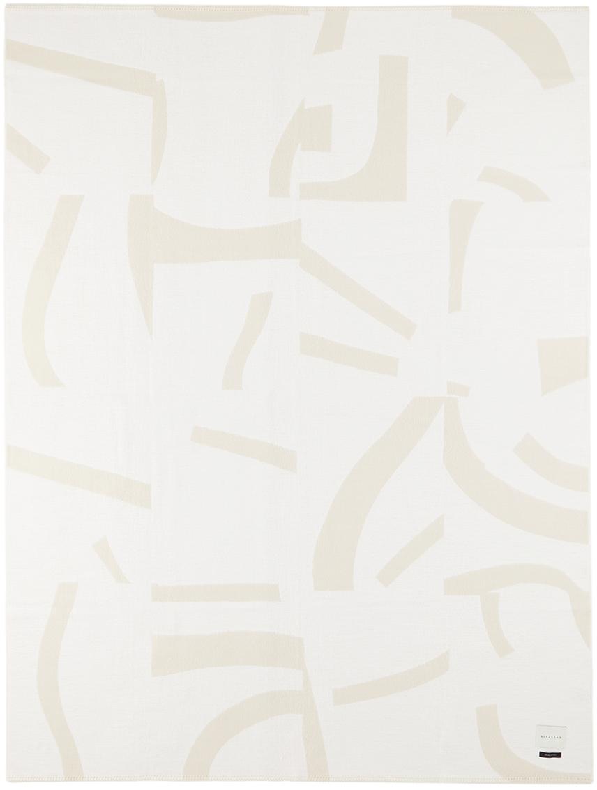 BLACKSAW SSENSE Exclusive White & Beige John Zabawa Edition Visions Throw