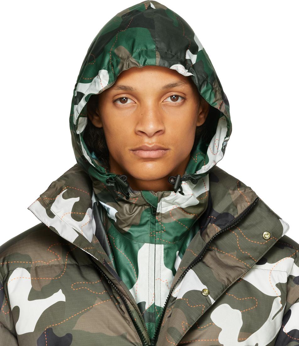 Green Ripstop Camo Hood