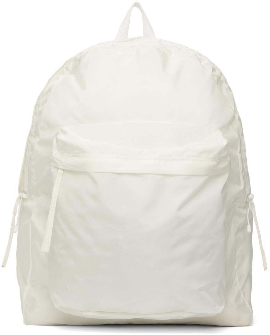 White Airbag String Backpack