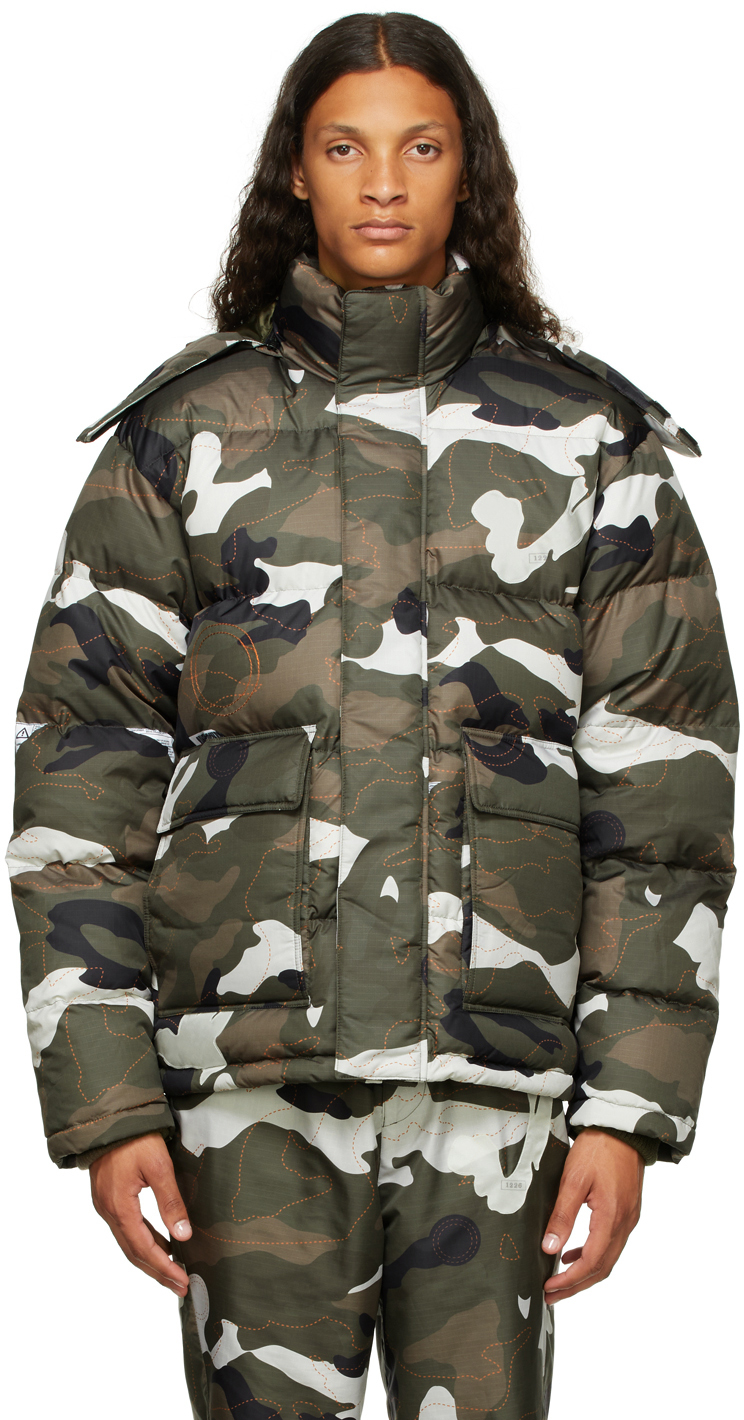 Green Airbag Patched Down Jacket
