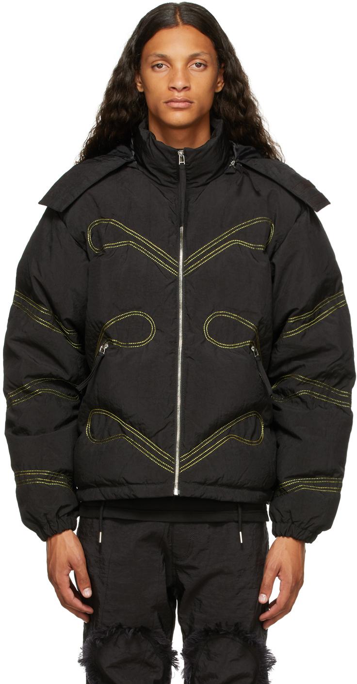 Black Curtain Airbag Down Jacket