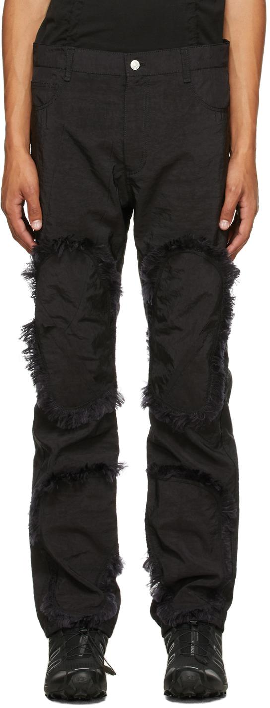 Black Airbag Fringe Trousers