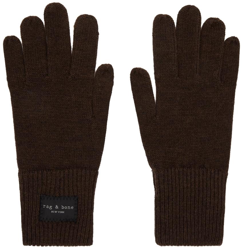 Brown Wool Addison Gloves