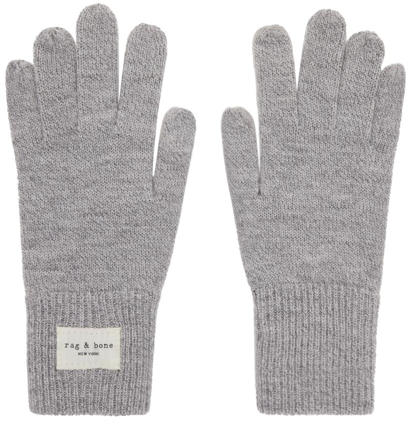 Grey Wool Addison Gloves