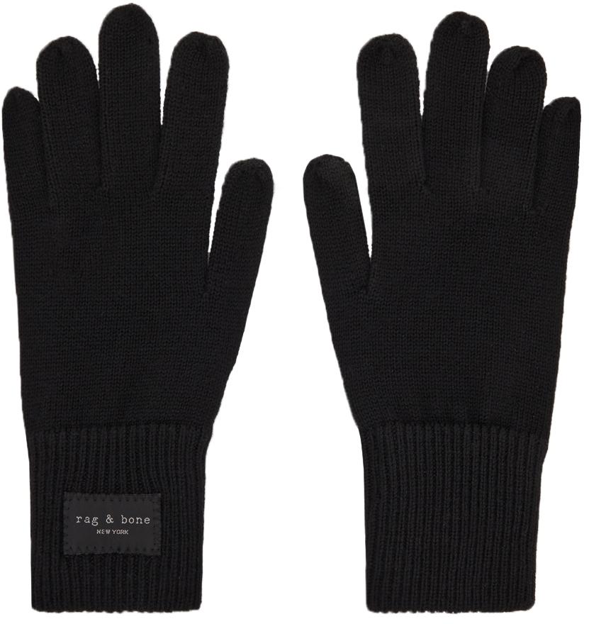 Black Wool Addison Gloves