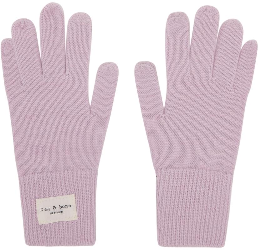 Pink Wool Addison Gloves