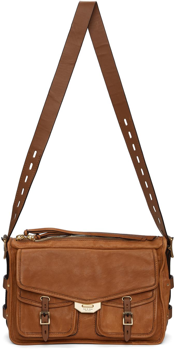 Brown Field Messenger Bag