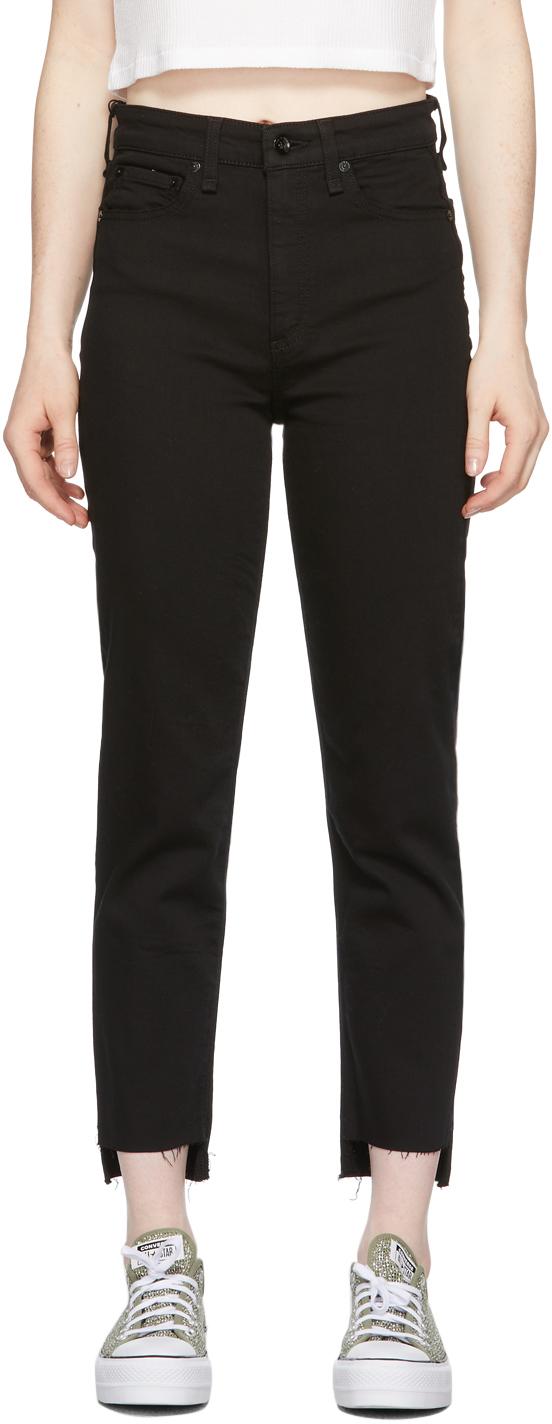 Black Nina High-Rise Ankle Cigarette Jeans