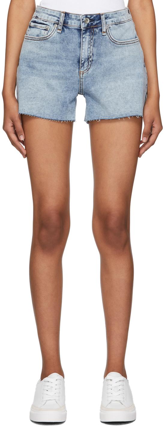 Blue Denim Dre Low-Rise Shorts