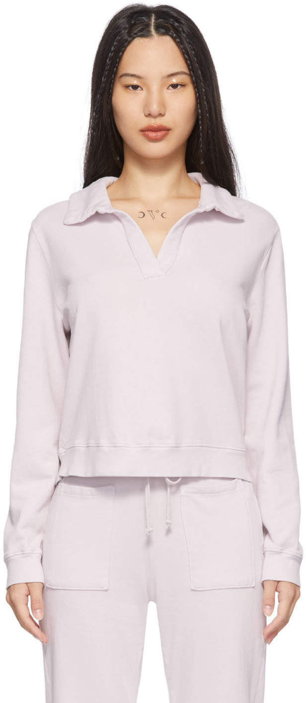 Purple Blaze Polo Sweatshirt