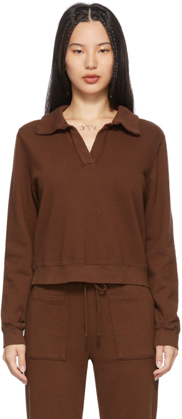 Brown Blaze Polo Sweatshirt
