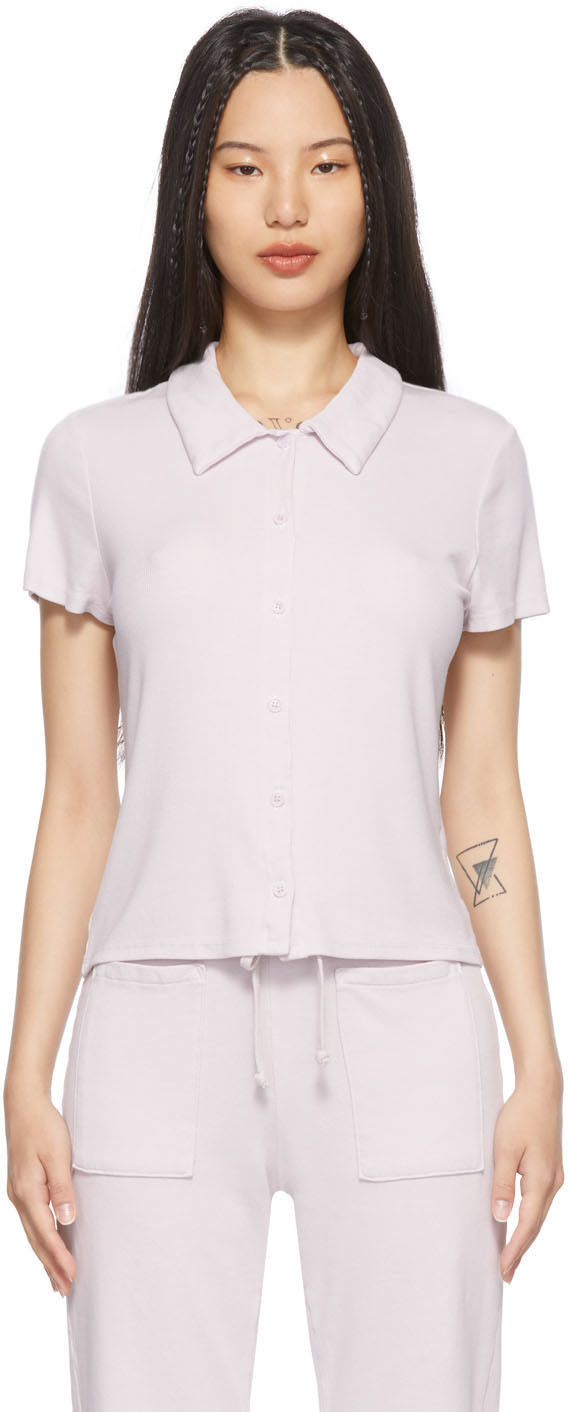 Purple Micro Modal Baby Polo T-Shirt