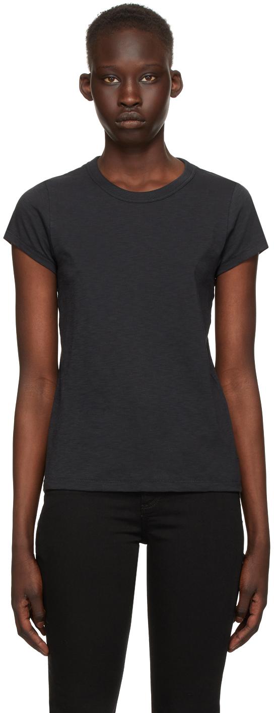 rag & bone Black 'The Slub' T-Shirt