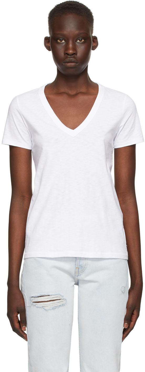 White 'The Slub' Vee T-Shirt