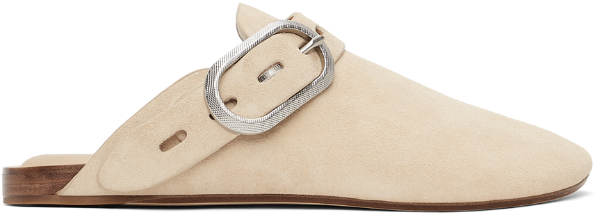 Beige Suede Ansley Slippers
