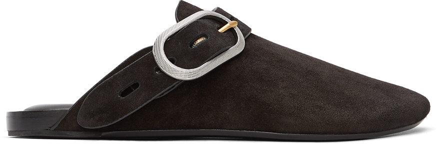 Black Suede Ansley Slippers