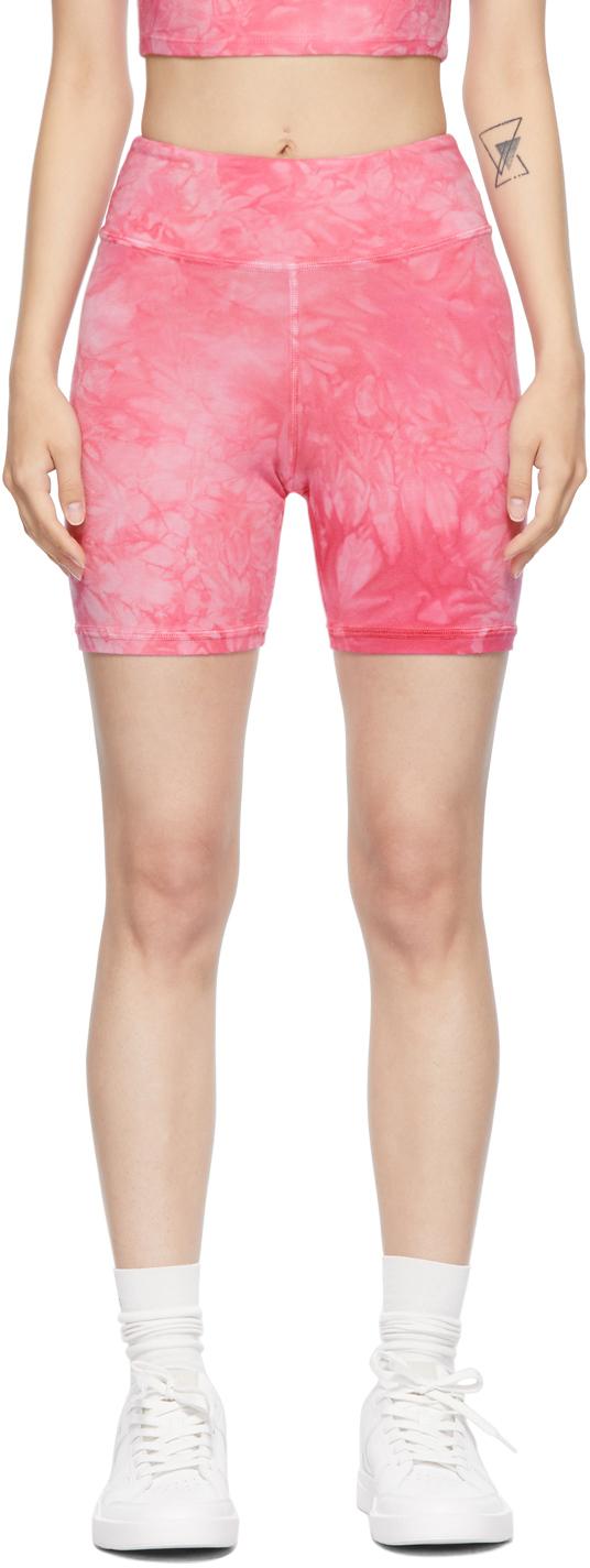 Pink Tie-Dye Stretch Shorts