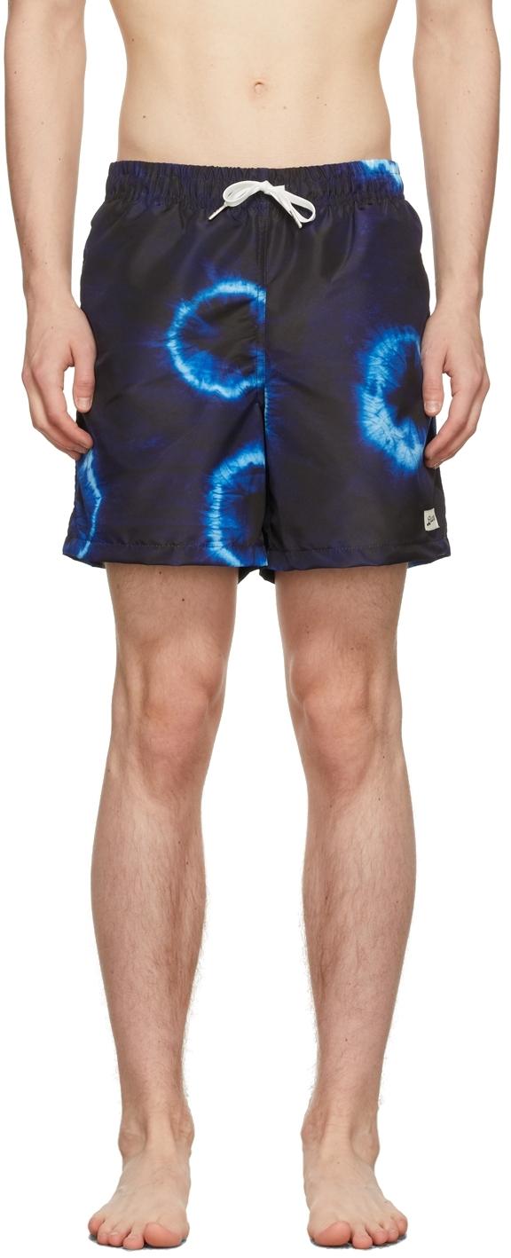 Navy Shibori Swim Shorts