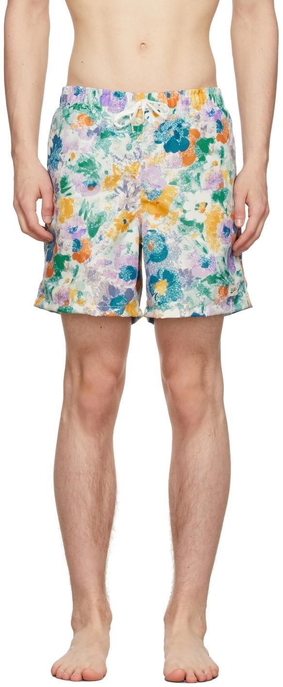 Multicolor Garden Floral Swim Shorts