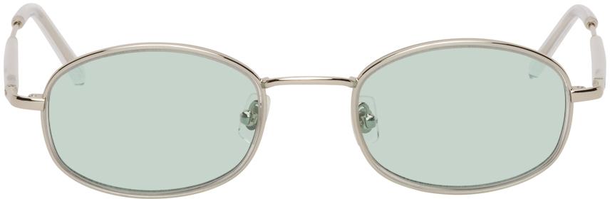 Silver & Blue No. 7 Sunglasses