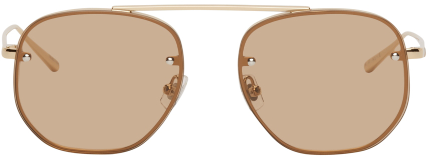 Gold & Brown Traction Sunglasses