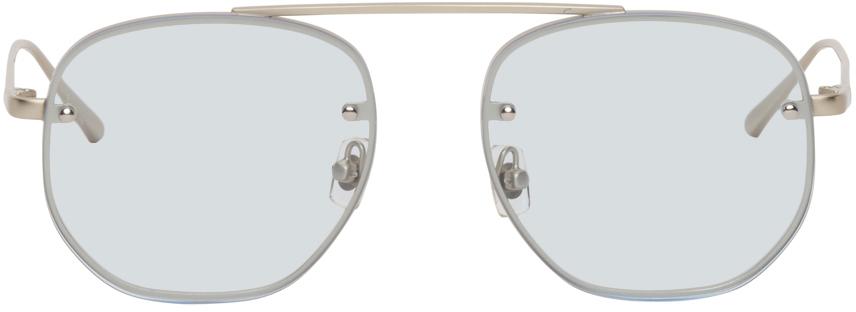 Silver & Blue Traction Sunglasses