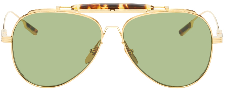 JACQUES MARIE MAGE Green Peyote Sunglasses