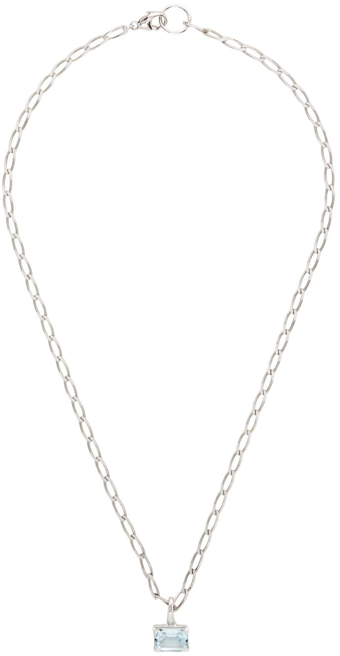 SSENSE Exclusive Silver & Blue Topaz Gem Necklace