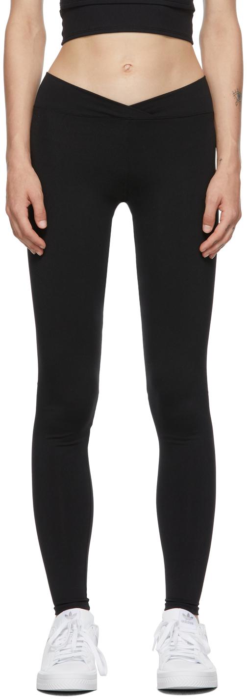 Black V Leggings