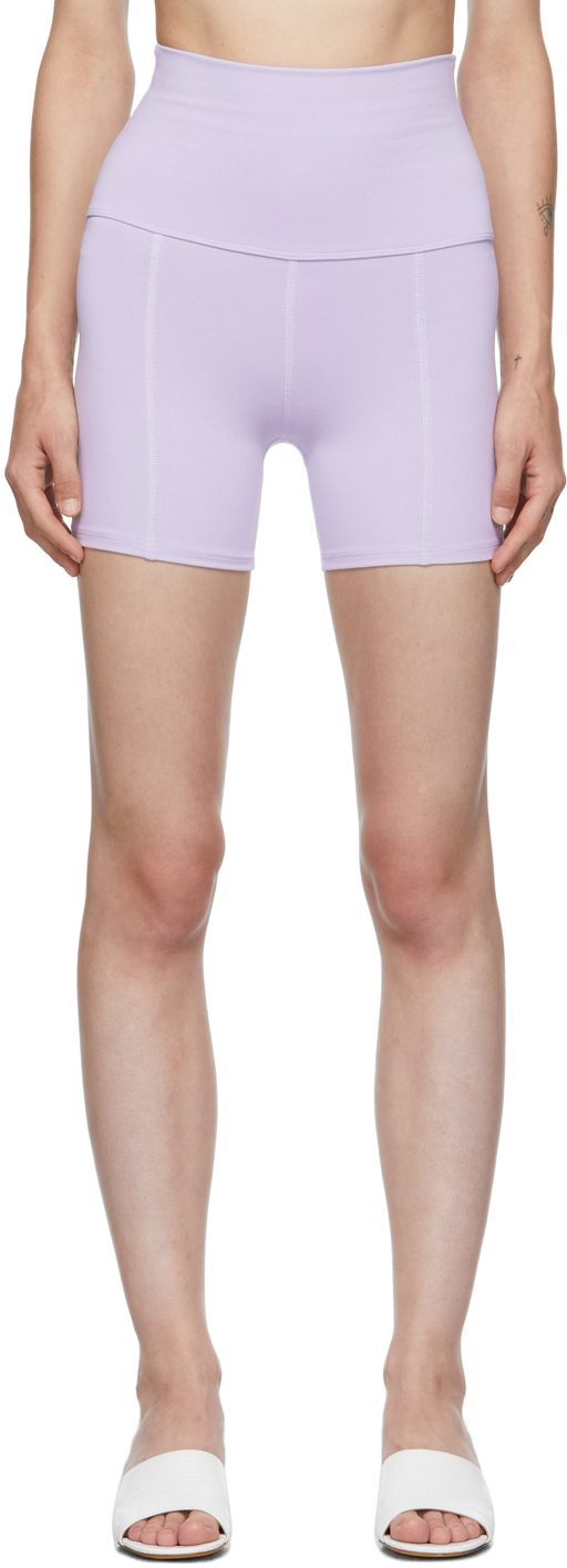 Purple Geometric Shorts