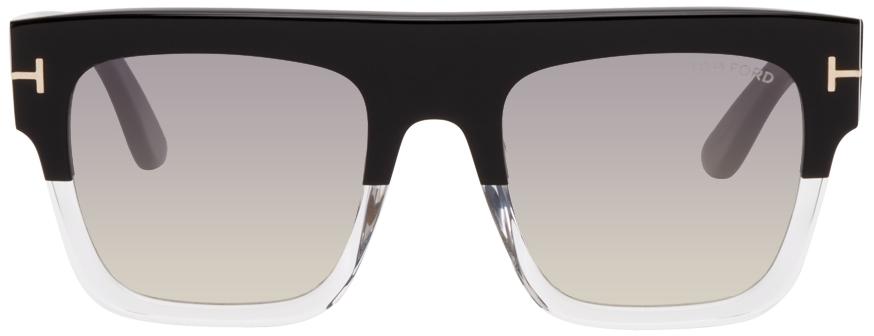 Black & Transparent Renee Sunglasses
