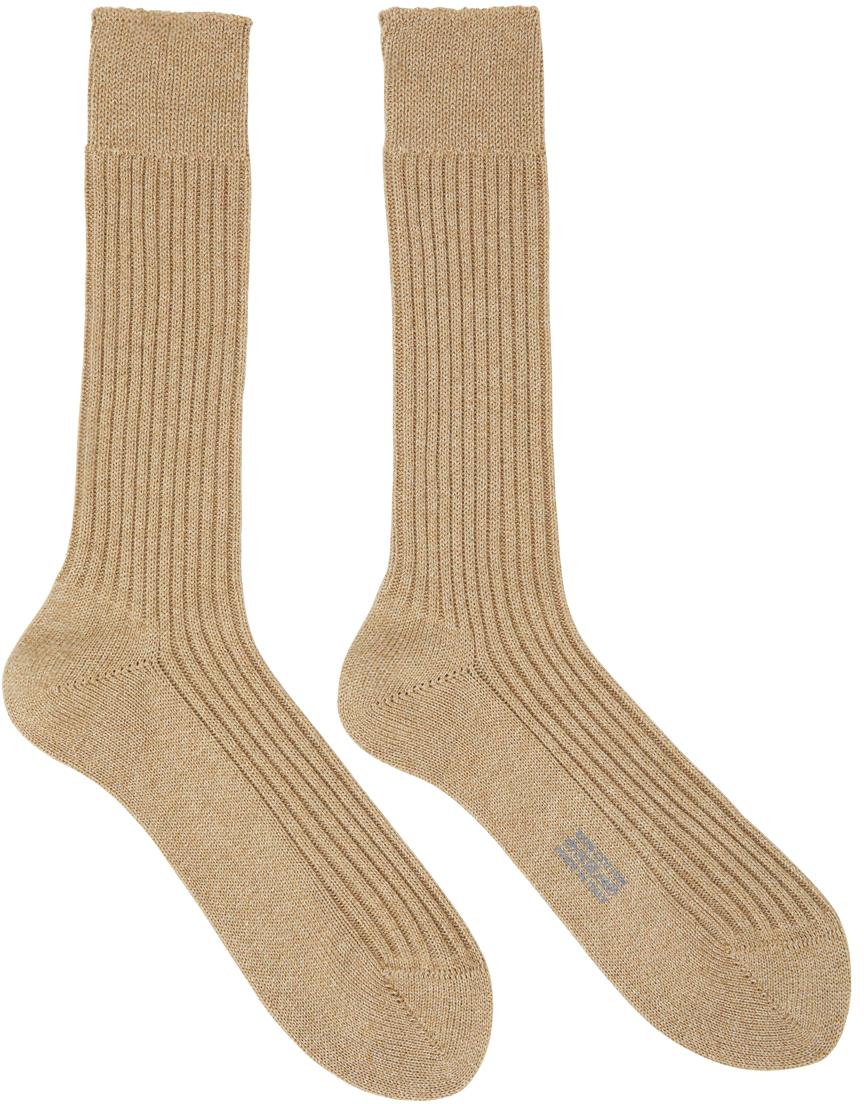 Brown Rib Socks