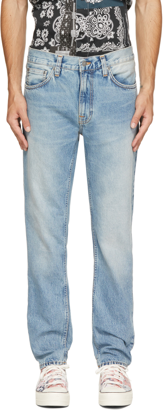 Nudie Jeans Blue Gritty Jackson Jeans In Light Depot
