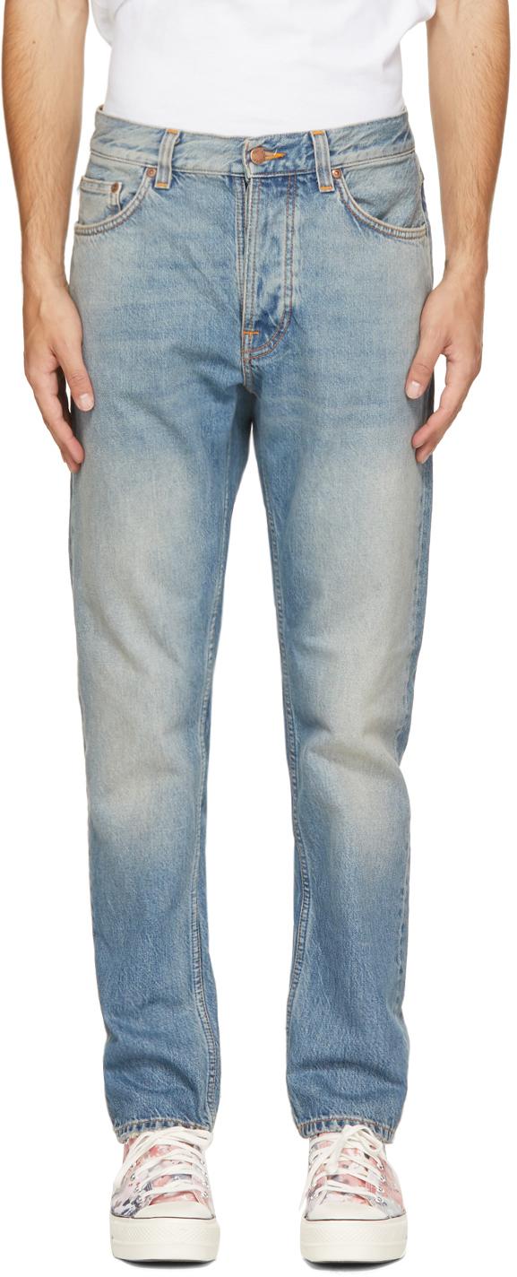 Nudie Jeans Blue Steady Eddie Ii Jeans In Blue Survivor