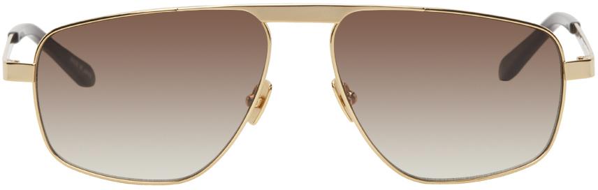 Gold Barham Aviator Sunglasses