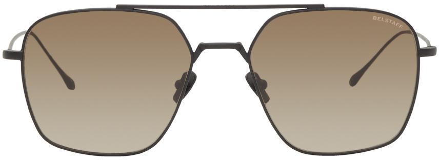 Black Outlaw Aviator Sunglasses