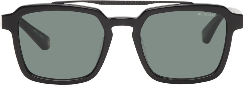 Black Cassell Aviator Sunglasses