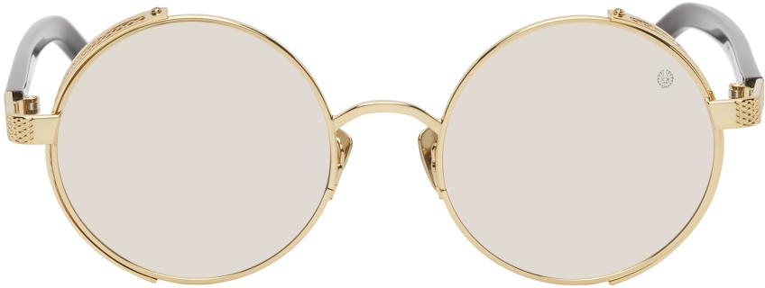 Gold Trophy II Round Sunglasses