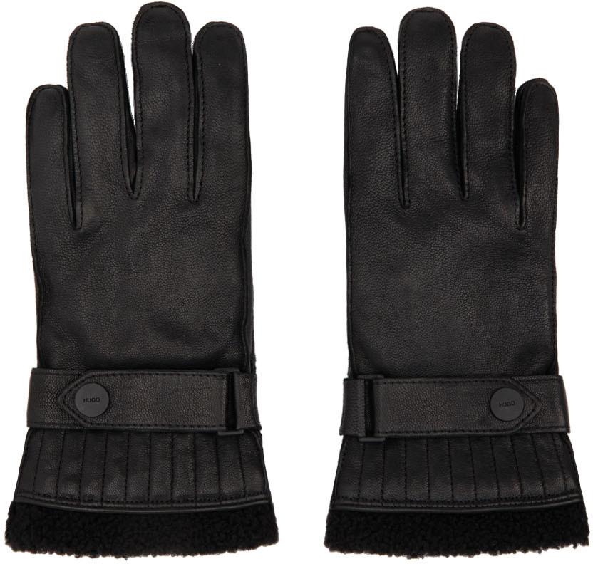 Black Goatskin Gloves