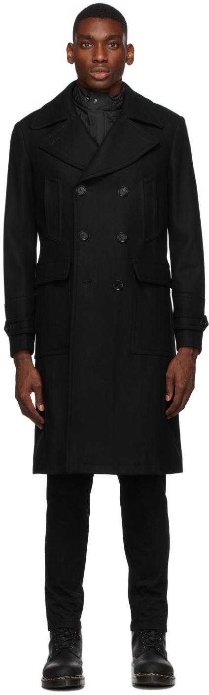 Black Wool New Milford Coat