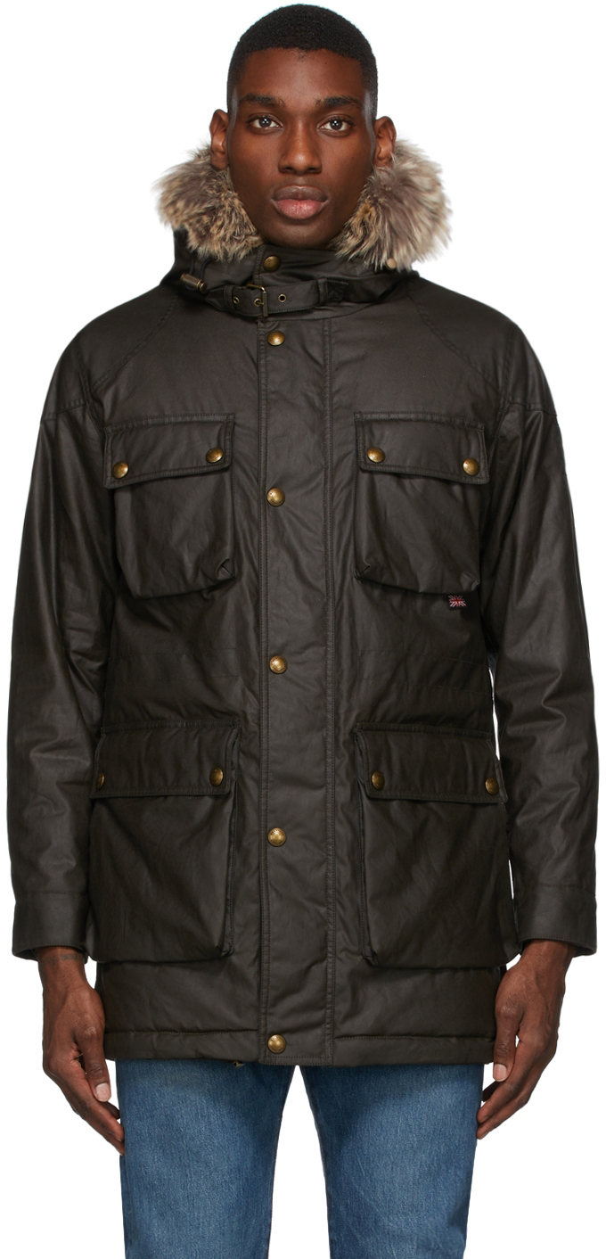 Khaki Waxed Pathmaster Coat